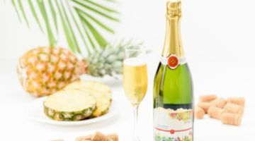 Pineapple sparkling wine Lagrima del sol sweet potato 750 ml